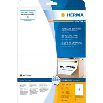 HERMA Universal-Etiketten SPECIAL, 105 x 148 mm, weiß