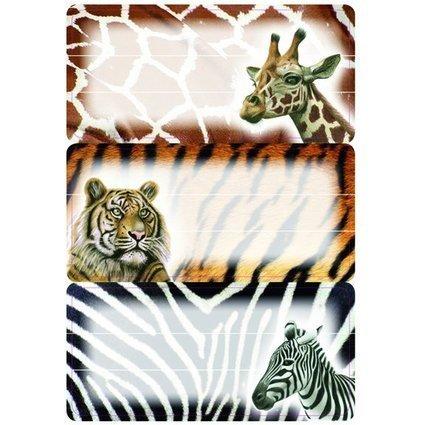 """HERMA Buchetiketten """"Afrikanische Tiere"""", 76 x 35 mm"""