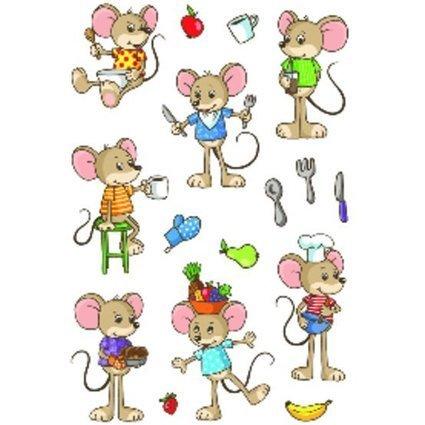 """HERMA Sticker MAGIC """"Lustige Mäuse"""", Transpuffy"""
