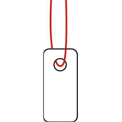 HERMA Warenanhänger, 7 x 15 mm, mit rotem Faden, Karton