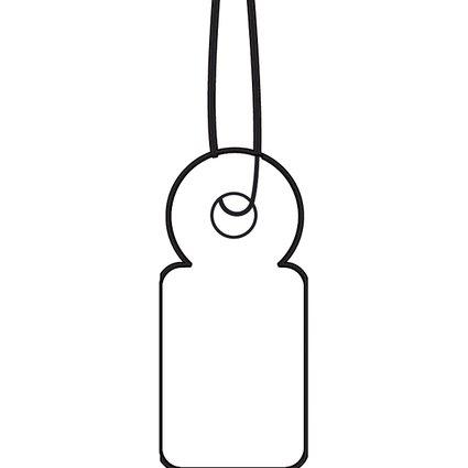 HERMA Warenanhänger, 10 x 22 mm, mit weißem Faden, Karton