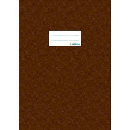 HERMA Heftschoner, DIN A4, aus PP, braun gedeckt