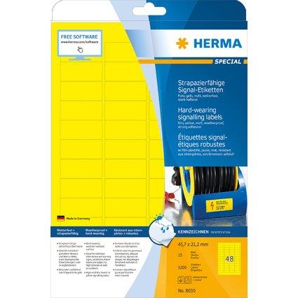 HERMA Signal-Etiketten SPECIAL, 45,7 x 21,2 mm, gelb