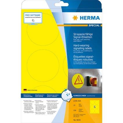 HERMA Signal-Etiketten SPECIAL, Durchmesser: 85 mm, gelb