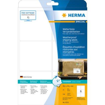 HERMA Wetterfeste Versand-Etiketten SPECIAL, 99,1 x 93,1 mm