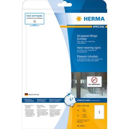 HERMA Folien-Etiketten SPECIAL, 190 x 275 mm, weiß
