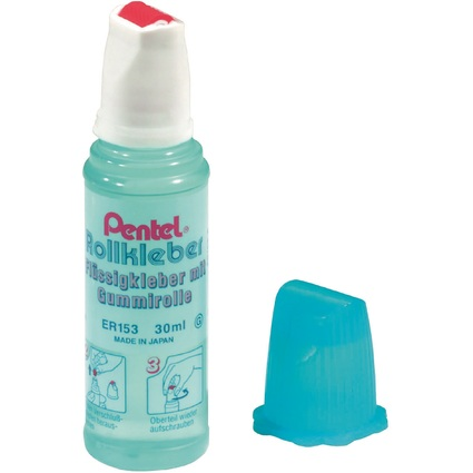 Pentel Rollkleber Roll'n Glue ER153-GS, Inhalt: 30 ml