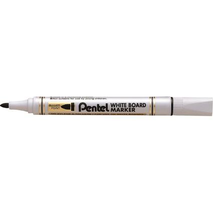 Pentel Whiteboard-Marker MW85, Rundspitze, schwarz