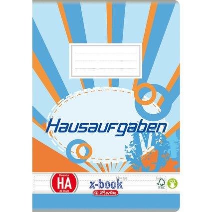 herlitz Hausaufgabenheft x.book, DIN A5, 80 g/qm, 48 Blatt
