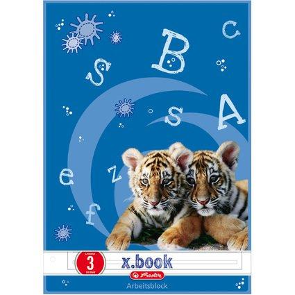 herlitz Arbeitsblock x.book, DIN A4, Lineatur 3
