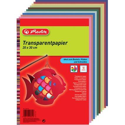 herlitz Transparentpapier, 200 x 300 mm, Inhalt: 10 Blatt