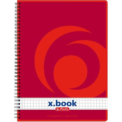 herlitz Collegeblock x.book DIN A5, 80 Blatt, kariert