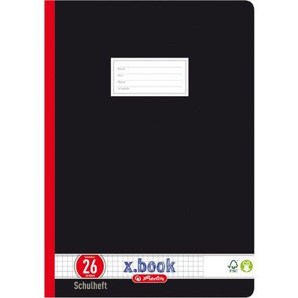 herlitz Oberschulheft x.book, DIN A4, kariert mit Rand