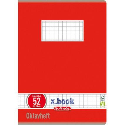 herlitz Oktavheft x.book, DIN A6, liniert, 70 g/qm, 32 Blatt