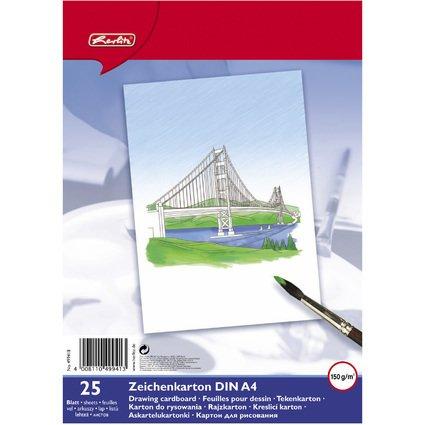 herlitz Zeichenkarton, DIN A4, Inhalt: 25 Blatt