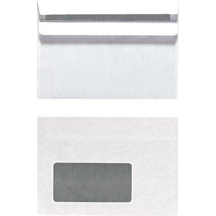 herlitz Briefumschlag, DIN C6, mit Fenster, weiß