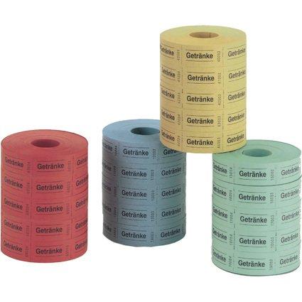 herlitz Getränkemarken, 30 x 55 mm, 1.000 Abriss je Rolle