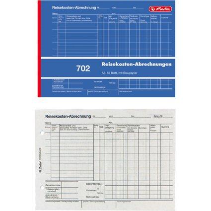 """herlitz Formularbuch """"Reisekostenabrechnung 702"""", A5 quer"""