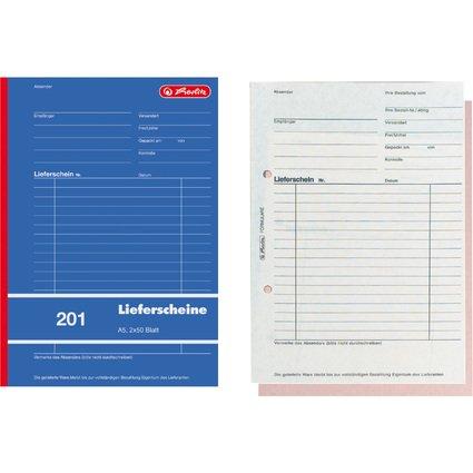 """herlitz Formularbuch """"Liefer-/Empfangsschein 201"""", DIN A5"""