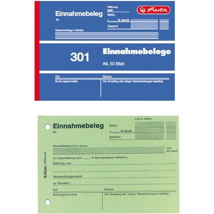 "herlitz Formularbuch ""Einnahmebeleg 301"", DIN A6, 50 Blatt"