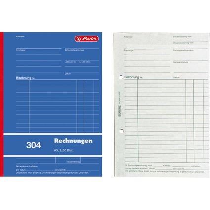 "herlitz Formularbuch ""Rechnung 304"", DIN A5, 2 x 50 Blatt"