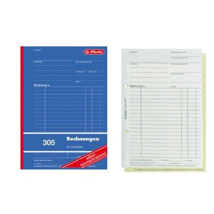 "herlitz Formularbuch ""Rechnung 305"", DIN A5, 2 x 40 Blatt"