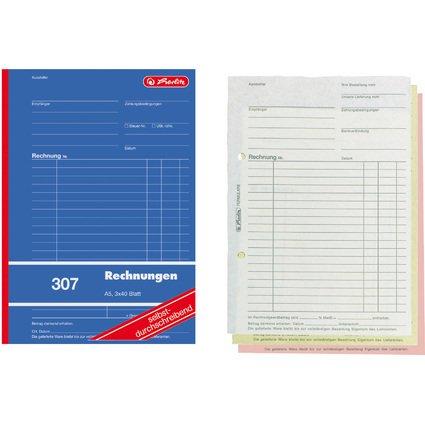 "herlitz Formularbuch ""Rechnung 307"", DIN A5, 3 x 40 Blatt"