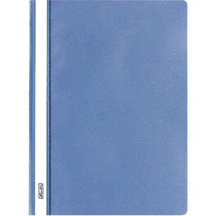 herlitz Schnellhefter, DIN A4, aus PP-Folie, blau