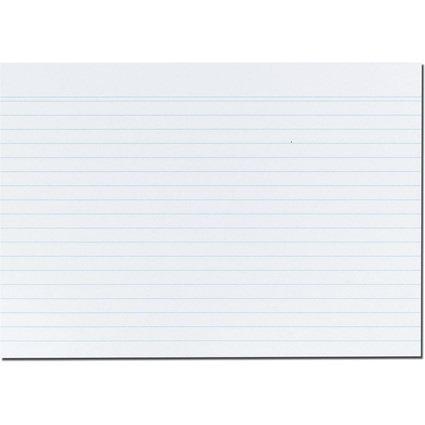 herlitz Karteikarten, DIN A5, liniert, weiß