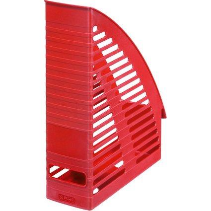 herlitz Stehsammler, DIN A4, aus Kunststoff, rot