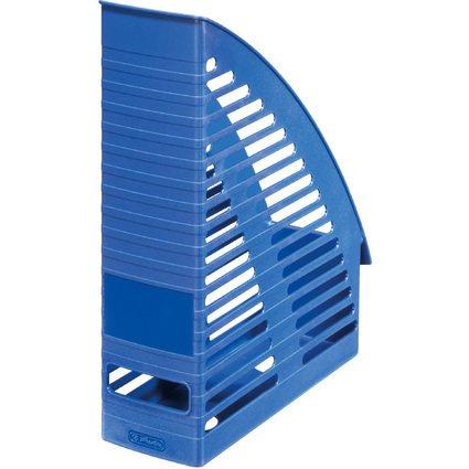 herlitz Stehsammler, DIN A4, aus Kunststoff, blau