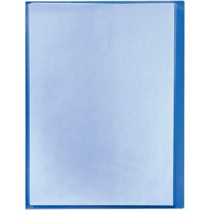 herlitz Sichtbuch, DIN A4, mit 20 Hüllen, blau/transluzent
