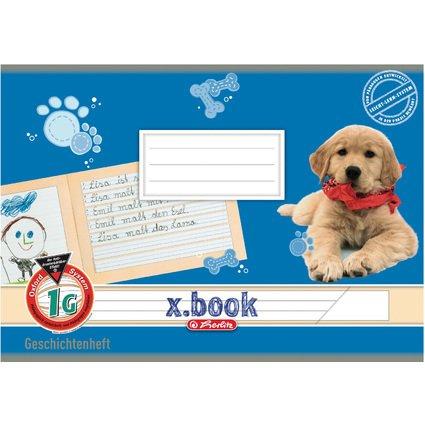 herlitz Geschichtenheft x.book, DIN A5 quer, Lineatur 1G