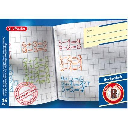 herlitz Rechenheft x.book, DIN A5 quer, Lineatur R / kariert