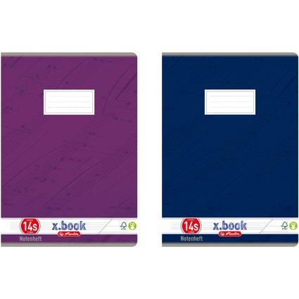 herlitz Notenheft x.book DIN A4, Lineatur 14S, 12 Blatt