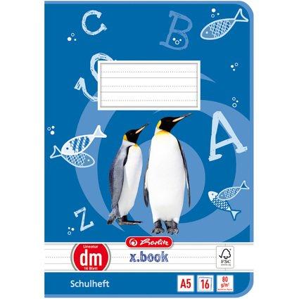 herlitz Schulheft x.book, DIN A5, Lineatur dm / liniert