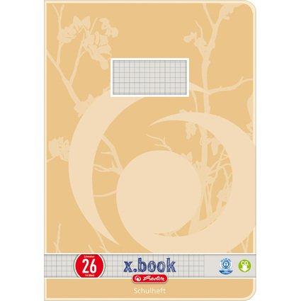 herlitz Schulheft x.book, DIN A4, UWS, Lineatur 26 / kariert
