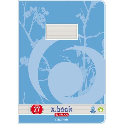 herlitz Schulheft x.book, DIN A4, UWS, Lineatur 27 / liniert