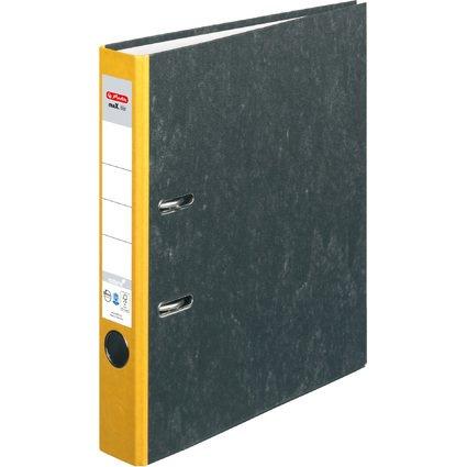 herlitz Ordner maX.file nature, Rückenbreite: 50 mm, gelber