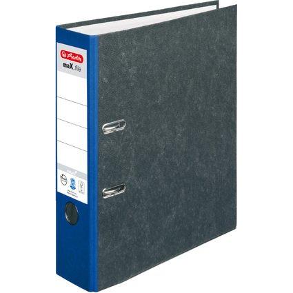 herlitz Ordner maX.file nature, Rückenbreite: 80 mm, blauer