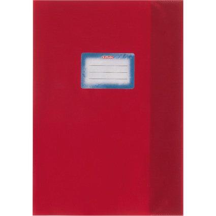 herlitz Heftschoner DIN A4, geprägt (Bast), PP, rot