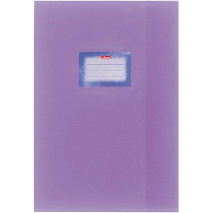 herlitz Heftschoner DIN A4, geprägt (Bast), PP, violett
