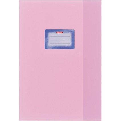 herlitz Heftschoner DIN A4, geprägt (Bast), PP, rosa