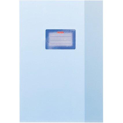 herlitz Heftschoner DIN A4, geprägt (Bast), PP, hellblau