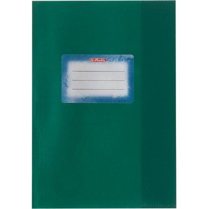 herlitz Heftschoner DIN A5, geprägt (Bast), PP, dunkelgrün