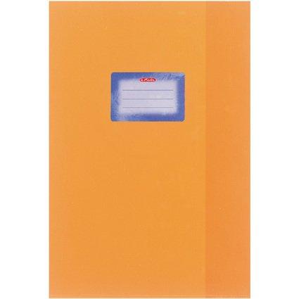 herlitz Heftschoner DIN A5, geprägt (Bast), PP, orange