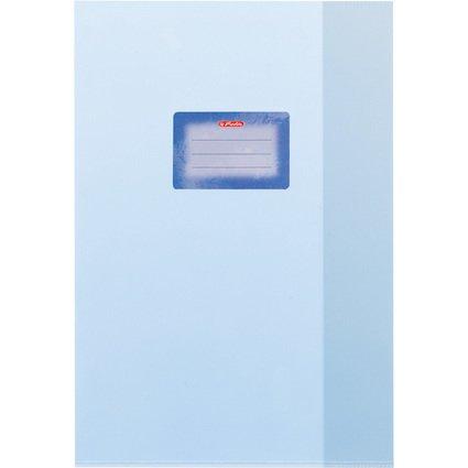 herlitz Heftschoner DIN A5, geprägt (Bast), PP, hellblau