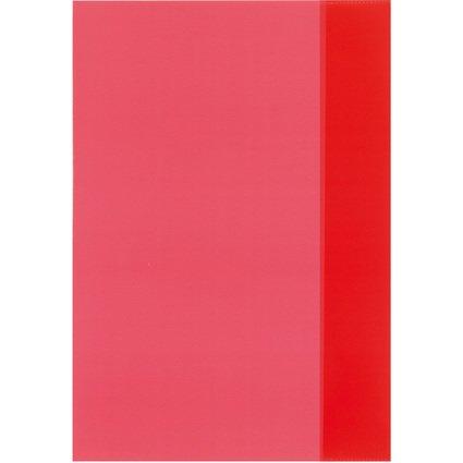 herlitz Heftschoner DIN A4, PP, transparent-rot