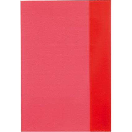 herlitz Heftschoner DIN A5, PP, transparent-rot