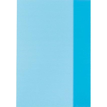 herlitz Heftschoner DIN A5, PP, transparent-blau